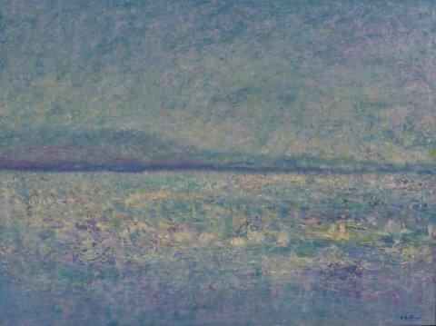 Landschap 1.  Olieverf Op Canvasboard   80 / 60 Cm. € 530.--