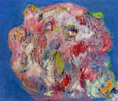 Beertje. Olieverf Op Canvas Board  40 / 50 Cm.  € 170.--