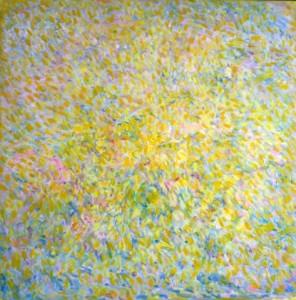 Sunlight in Tuscany. Olieverf op doek 100 / 100 cm. € 690.--